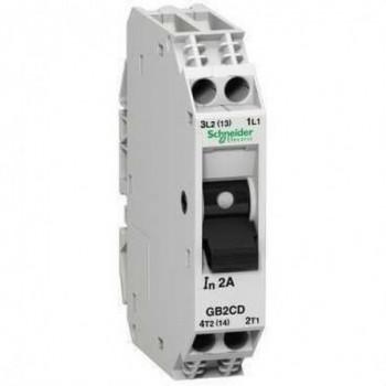 DISYUNTOR MAGNETICO 2 POLOS 4A  con referencia GB2CD09 de la marca SCHNEIDER ELEC.