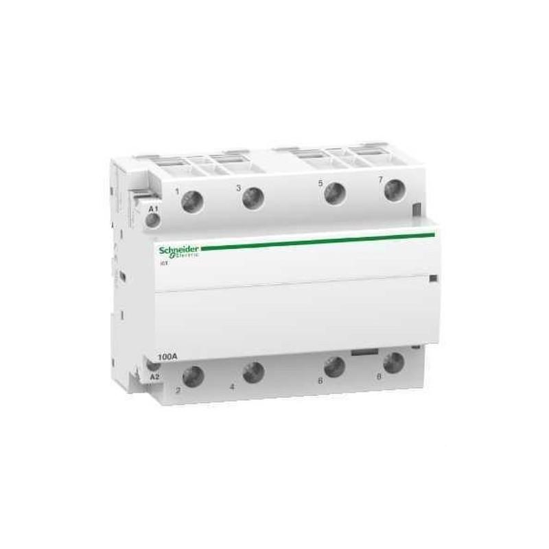 CONTACTOR ICT 100A 4NA 230/240V CORRIENTE ALTERNA  con referencia A9C20884 de la marca SCHNEIDER ELEC.
