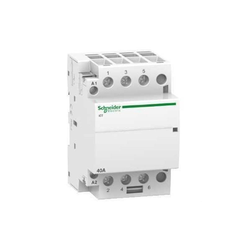 CONTACTOR ICT 40A 3NA 230/240V CORRIENTE ALTERNA  con referencia A9C20843 de la marca SCHNEIDER ELEC.