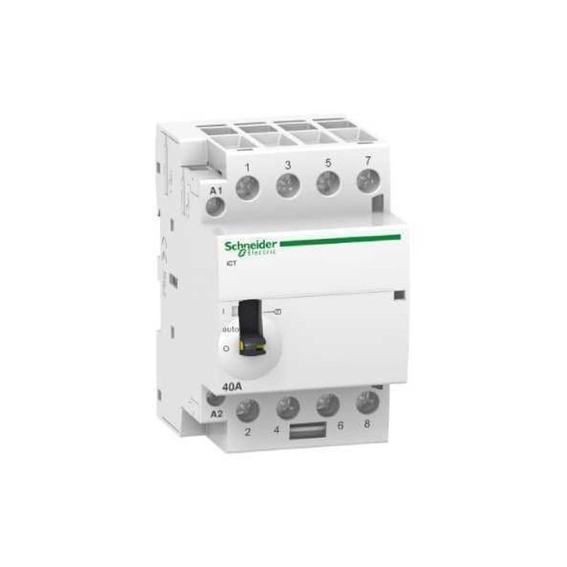 CONTACTOR ICT 40A 4NA 230/240V CORRIENTE ALTERNA  con referencia A9C21844 de la marca SCHNEIDER ELEC.