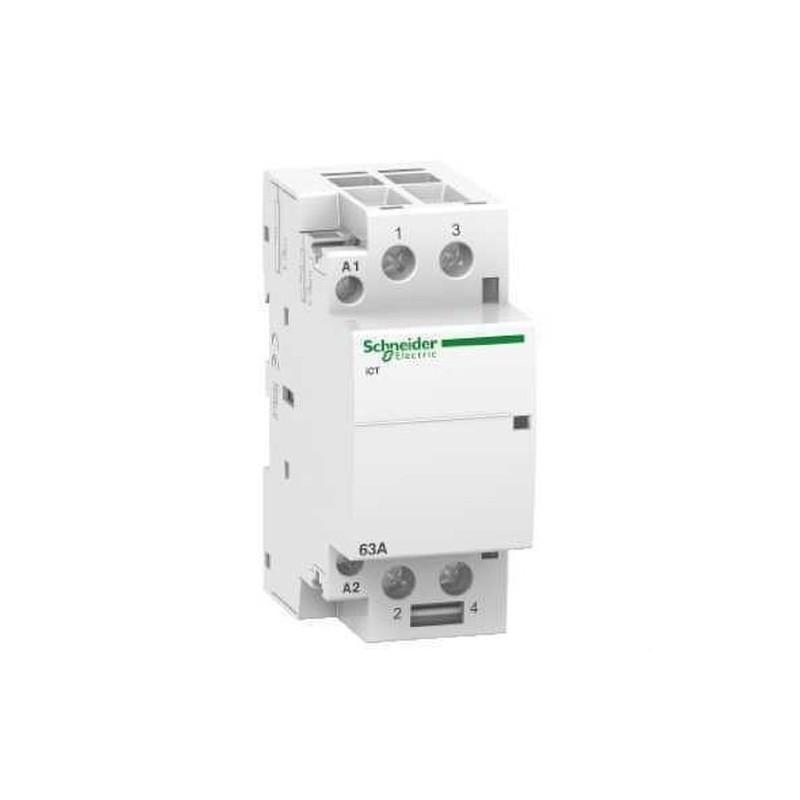 CONTACTOR ICT 63A 2NA 230/240V CORRIENTE ALTERNA  con referencia A9C20862 de la marca SCHNEIDER ELEC.