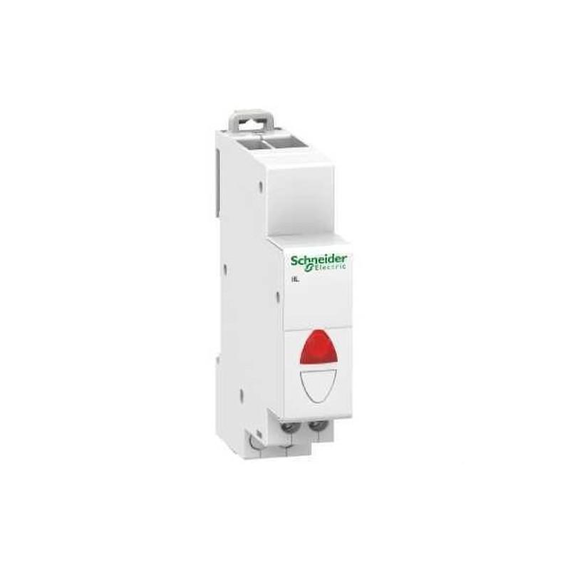 PILOTO SIMPLE IIL 110-230V CORRIENTE ALTERNA ROJO con referencia A9E18320 de la marca SCHNEIDER ELEC.