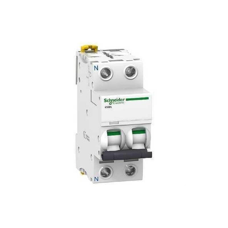 INTERRUPTOR AUTOMATICO MAGNETOTERMICO IC60N 1 POLO+NEUTRO 2A CURVA-C con referencia A9F74602 de la marca SCHNEIDER ELEC.
