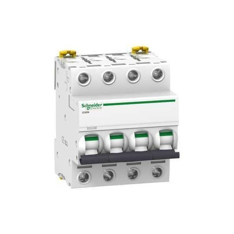 INTERRUPTOR AUTOMATICO MAGNETOTERMICO IC60N 4 POLOS 20A CURVA-B con referencia A9F78420 de la marca SCHNEIDER ELEC.