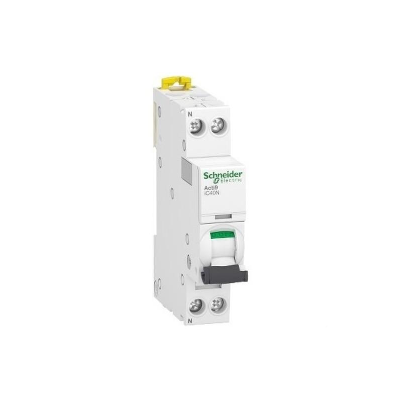 Interruptor automático en miniatura ACTI 9 IC40N 1PN C 16A 6000A/10kA con referencia A9P54616 de la marca SCHNEIDER ELECTRIC.