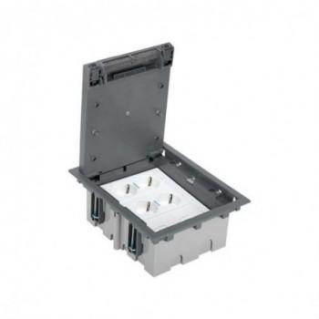 Kit suelo técnico 3 módulos para 2 RJ45 blanco con referencia 52006306-030 de la marca SIMON.