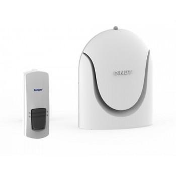 Conjunto timbre + pulsador pilas alcance 100m con referencia TI HEB K26 de la marca DINUY.