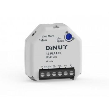 Regulador para tiras led 12-48Vcc con referencia RE PLA LE2 de la marca DINUY.