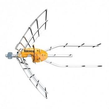 Antena serie ELLIPSE UHF (C21-48) + alimentación colectivo con referencia 148922 de la marca TELEVES.