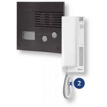 Kit audio K-202 2 viviendas grafito con referencia 11242024B de la marca GOLMAR.