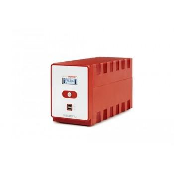 Sai SPS 1600 SOHO+ tecnología Line-interactive doble cargador frontal USB con referencia 647CA000005 de la marca SALICRU.