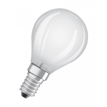 Lámpara LED CLASSIC P PARATHOM CL P GL FR 40 NO DIM 4W 827 E14 con referencia 4058075438552 de la marca OSRAM.