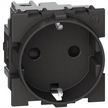 Base enchufe 2P+T 16A 230Vca LIVING NOW 2 módulos contactos laterales