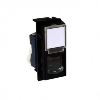 Base RJ45 CAT6 UTP LIVING NOW 1 módulo para transmisión de datos/telefonía
