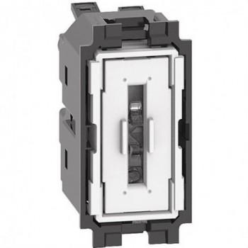 Interruptor 1P 10AX 250VCA LIVING NOW 1 módulo bornes automáticos