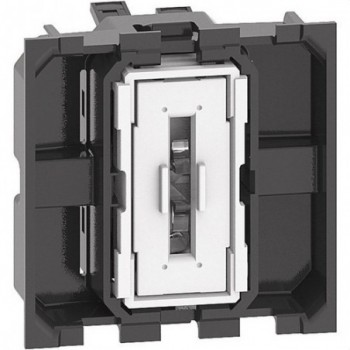 Interruptor 1P 10AX 250VCA LIVING NOW 2 módulos bornes automáticos
