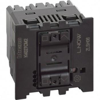 Interruptor de persianas conectado 230VCA LIVING NOW W/NETATMO 2 módulos con neutro con referencia K4027CM2 de la marca BTICINO.